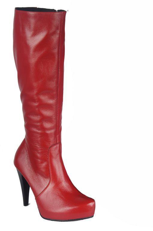 8ae0929c6918e Obuwie Kozaki Damskie model 687 Czerwone | KOZAKI WYPRZEDAŻ | Sklep ...